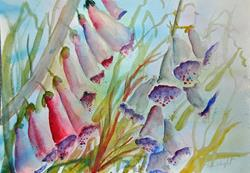 Art: Foxgloves (10) by Artist John Wright