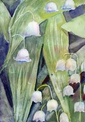 Art: Lily of the valley (3) by Artist John Wright