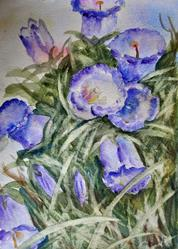 Art: Canterbury bells (3) by Artist John Wright