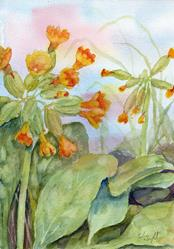 Art: Cowslips (6) by Artist John Wright