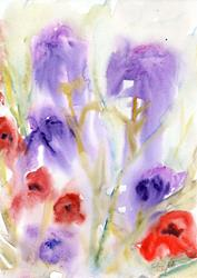 Art: Wildflowers (11) by Artist John Wright