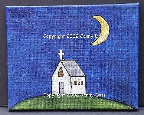 Art: Night Chapel by Artist Jenny Doss
