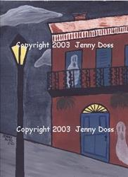 Art: Haunted Street: New Orleans, USA by Artist Jenny Doss