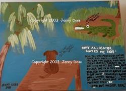 Art: Why Alligator Hates Dog by Artist Jenny Doss