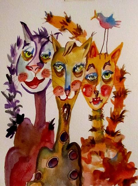 Art: Jazz Cats by Artist Delilah Smith