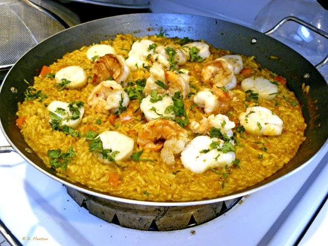 Shrimp and Scallop Paella - by Deanne Flouton from Food and Drink