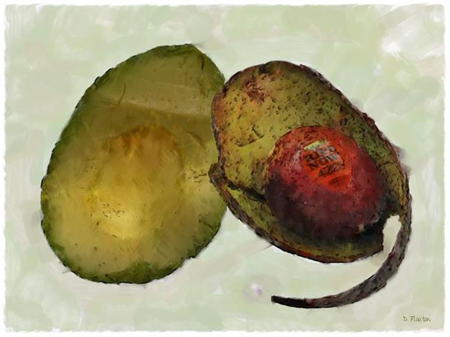 Art: Avocado by Artist Deanne Flouton