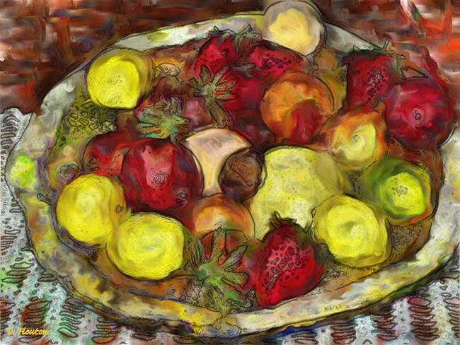 Art: Fruitbowl by Artist Deanne Flouton