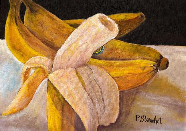 Art: Going Bananas, A Peeling Fruit by Artist Penny StewArt