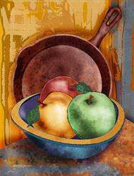 Art: Apples by Artist Mary Ogle
