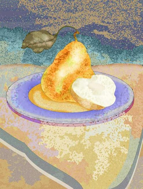 Art: Pear by Artist Mary Ogle
