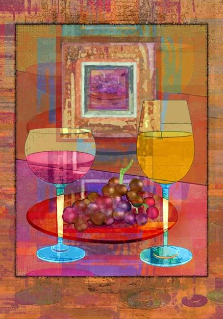 Art: Wine by Artist Mary Ogle