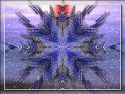 Art: Snowflake Star by Artist Mario Carini