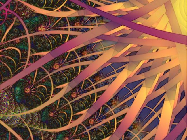 Art: Tendrils of the Sun by Artist Carolyn Schiffhouer