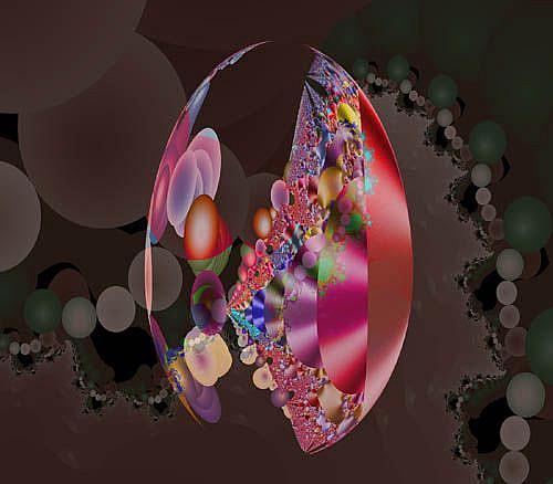 Art: Patchwork Egg by Artist Carolyn Schiffhouer