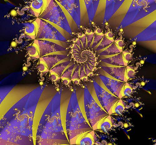 Art: Royal Spiral by Artist Carolyn Schiffhouer