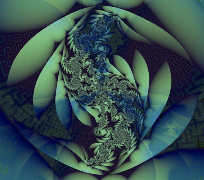 Art: zen Serenity by Artist Carolyn Schiffhouer