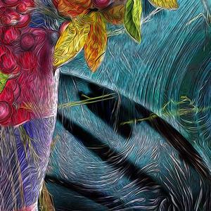 Detail Image for art Nandina in a Vase
