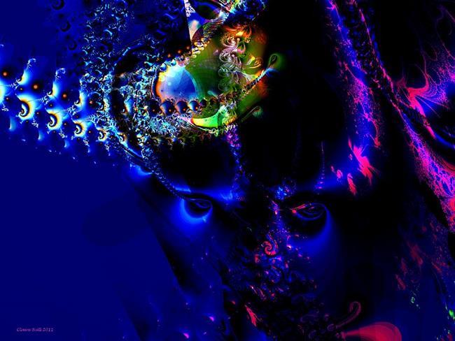 Art: Alien Eyes by Artist Claire Bull