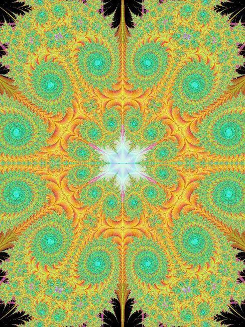 Art: Fractal Fabric by Artist Lindi Levison