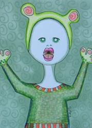 Art: CRYIN AMANDA-Toad Baby by Artist Sherry Key