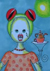 Art: TREE TOAD TEA PARTY by Artist Sherry Key