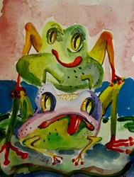Art: Leap Frogs by Artist Delilah Smith
