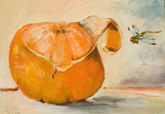 Art: Tangerine Peel by Artist Delilah Smith