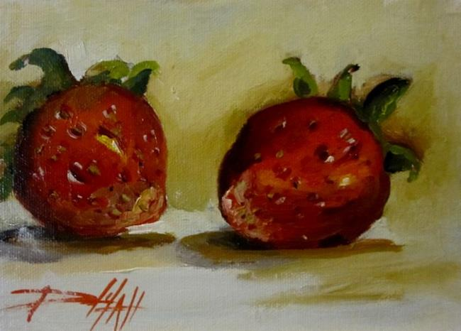 Art: Rich Romantic Red Strawberries by Artist Delilah Smith