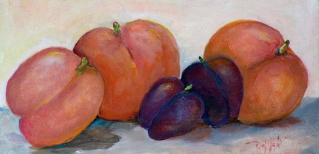 Art: Peaches and Plums-sold by Artist Delilah Smith