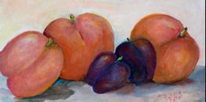 Detail Image for art Peaches and Plums-sold