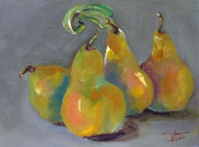Art: Four Pears by Artist Delilah Smith