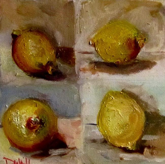 Art: A Study of Lemons-sold by Artist Delilah Smith