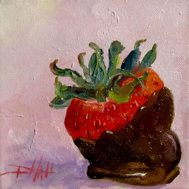 Art: Chocolate Dipped Strawberry by Artist Delilah Smith