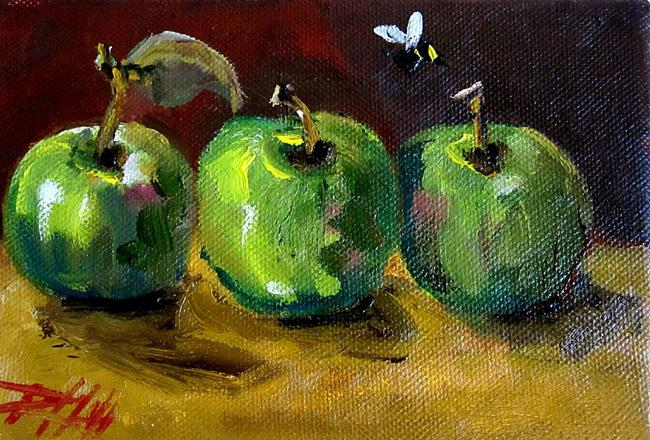 Art: Little Green Apples= SOLD by Artist Delilah Smith