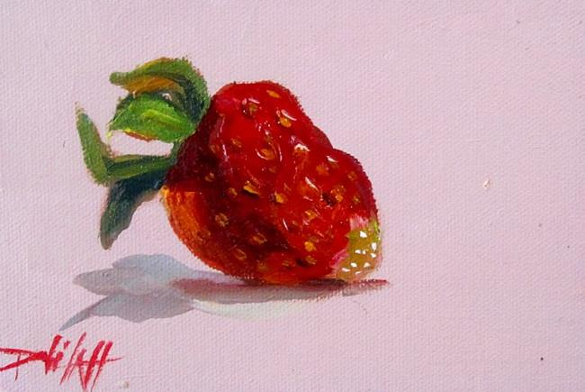 Art: A Straeberry-sold by Artist Delilah Smith