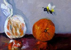 Art: Two Oranges and a Bee by Delilah Smith