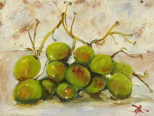 Art: Green Grapes by Artist Delilah Smith