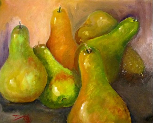 Art: Six Drunken Pears (800x643).jpg by Artist Delilah Smith