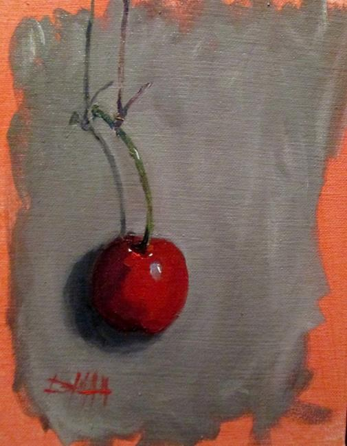 Art: Cherry on a String by Artist Delilah Smith