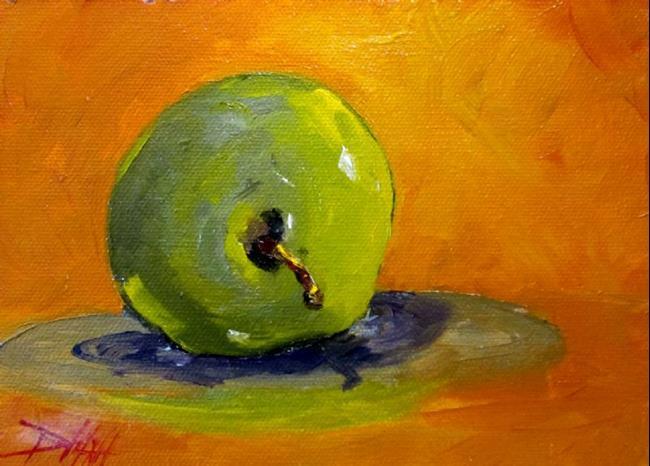 Art: Green Apple by Artist Delilah Smith