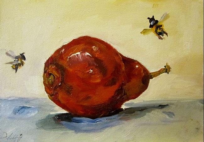 Art: Red Pear No.2 by Artist Delilah Smith