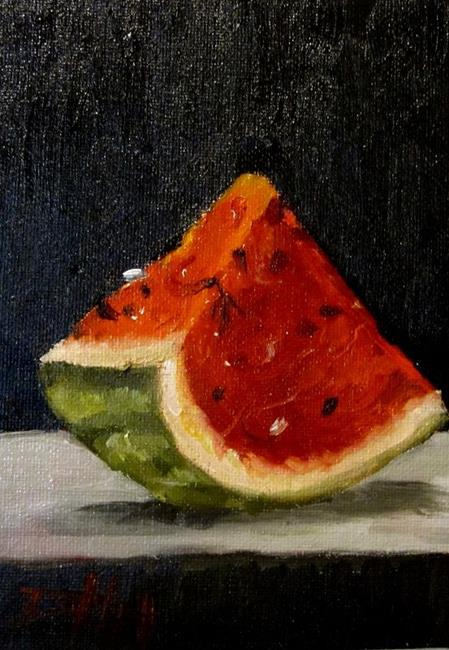 Art: Watermelon Slice-SOLD by Artist Delilah Smith