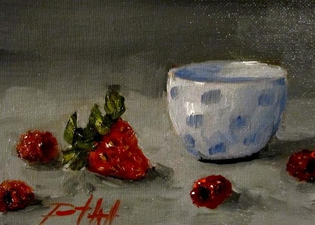 Art: Raspberries and Strawberry by Artist Delilah Smith