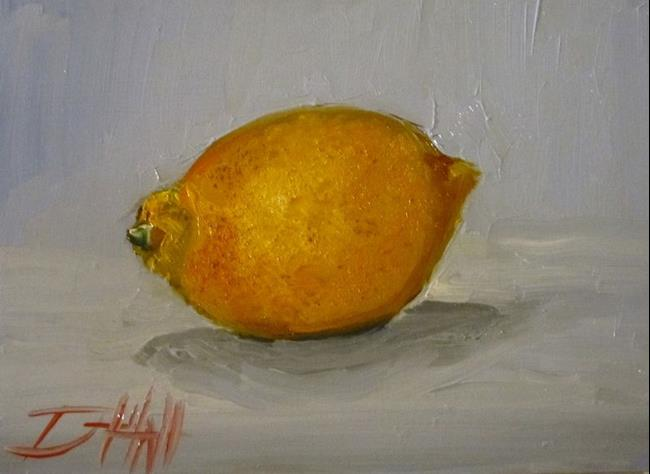 Art: A Lemon by Artist Delilah Smith