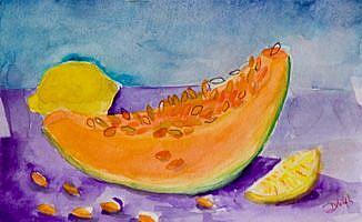 Art: Mellon and Lemon by Artist Delilah Smith