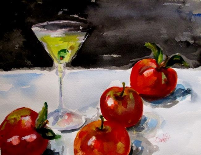 Art: Martini and Apples by Artist Delilah Smith