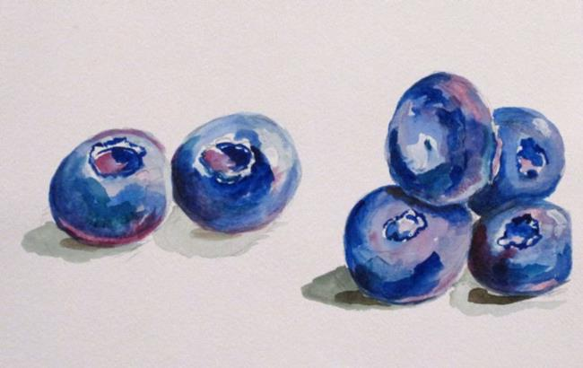 Art: Blueberries by Artist Delilah Smith