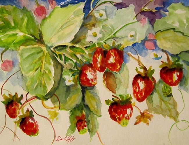 Art: Red Strawberries by Artist Delilah Smith