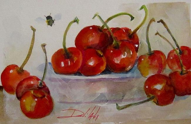 Art: Wild Cherries by Artist Delilah Smith